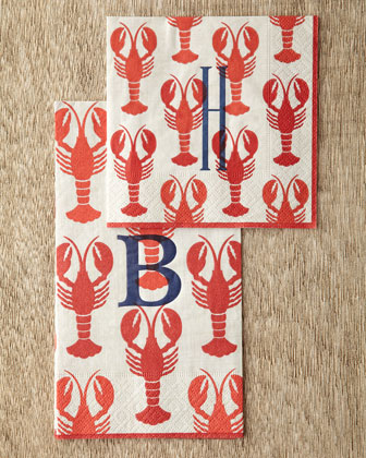 Lobster Cocktail Napkins & Guest Towels