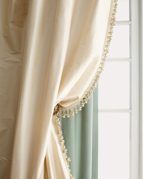 "Each Golden Crystal Palace Organza Sheer Curtain, 108""L"