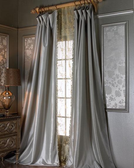 "Each 90""L Crystal Palace Imperial Silk Curtain"