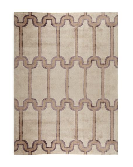 Travertine Links Rug, 6' x 9'