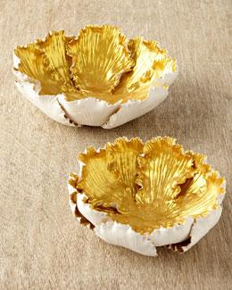Gilded Tulip Bowl