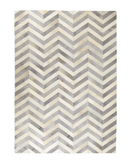 "Windsor Chevron Hide Rug, 9'6"" x 13'6"""