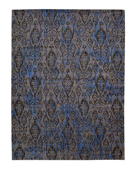 """Moroccan Indigo Rug, 5'3"""" x 7'5"""""""