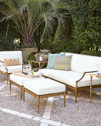 Sophia Outdoor Sofa  Chair  & Ottoman