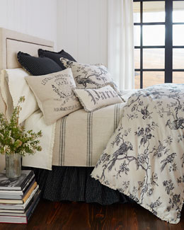 Blackbird Toile Bedding