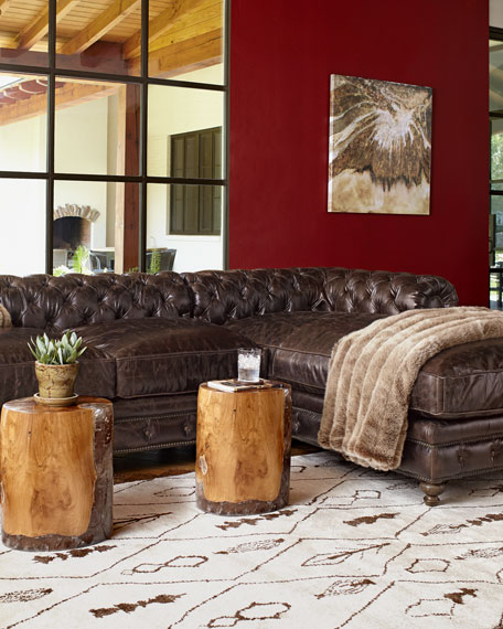 Leather Furniture Traveler Collection: Warner Leather Collection Chesterfield Sofas & Chair