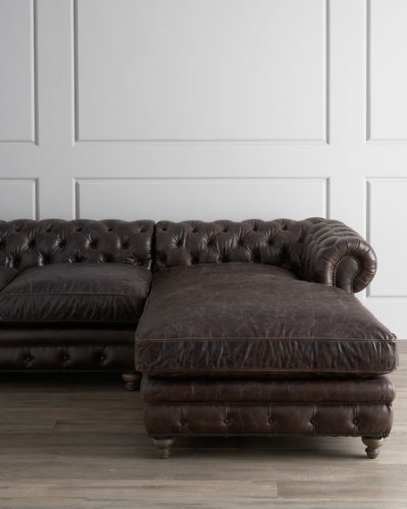 Chesterfield Sofa Price: Warner Leather Collection Chesterfield Sofas & Chair