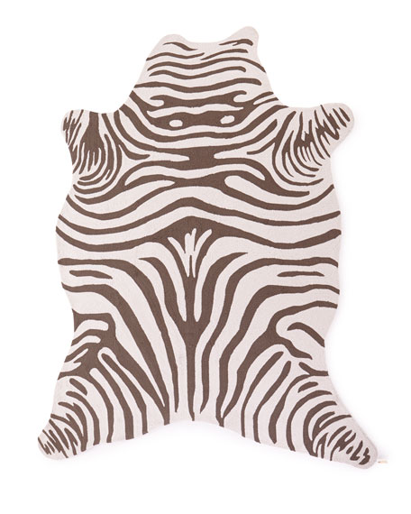 Maya Zebra Indoor/Outdoor Rug, 8' x 10'