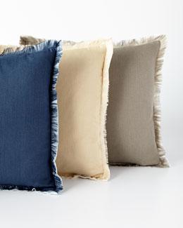 Fringed Linen Pillows