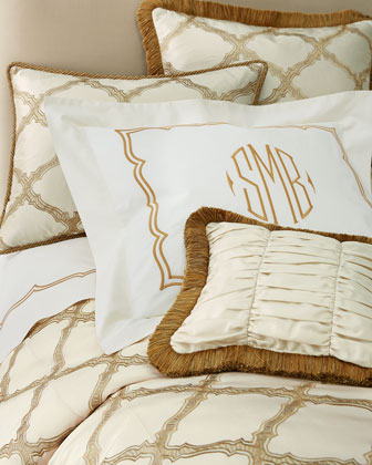 Versailles Embroidered-Frame Shams