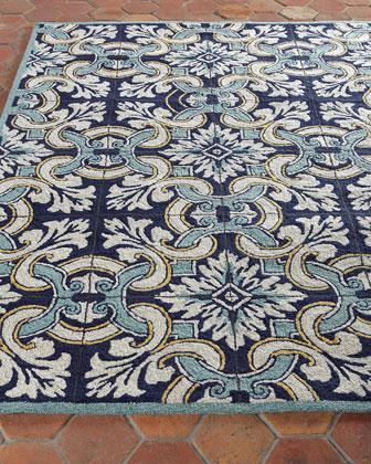 Paige Floral Tile Indoor/Outdoor Rug