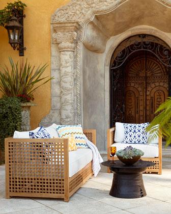 Maya Teak Outdoor Sofa Frame, Chair Frame, & Cushions