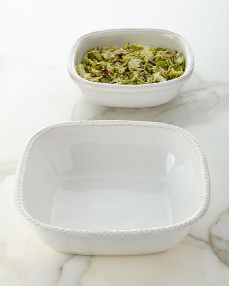 "Le Panier Whitewash 9"" Serving Bowl"