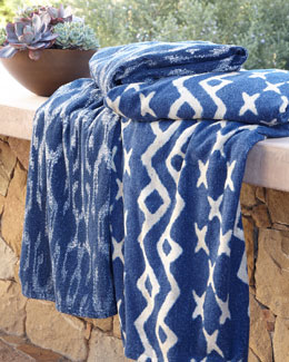 Tudela Indigo Beach Towel