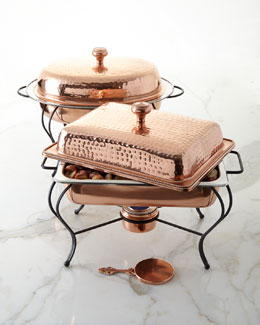 Copper-Plated Chafing Dishes