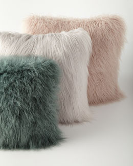 Khan Faux-Fur Pillows