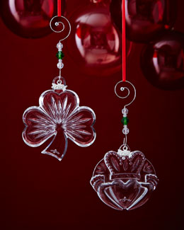 Shamrock & Claddagh Christmas Ornaments