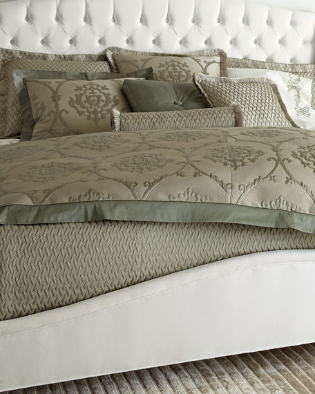 King Le Plaza Woven-Pattern Coverlet