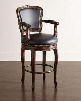 Roman Swivel Leather Counter Stool & Barstool