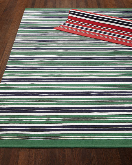 Racing Point Stripe Indoor/Outdoor Rug, 8' x 10'