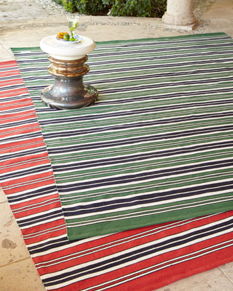 Racing Point Stripe Indoor Outdoor Rug