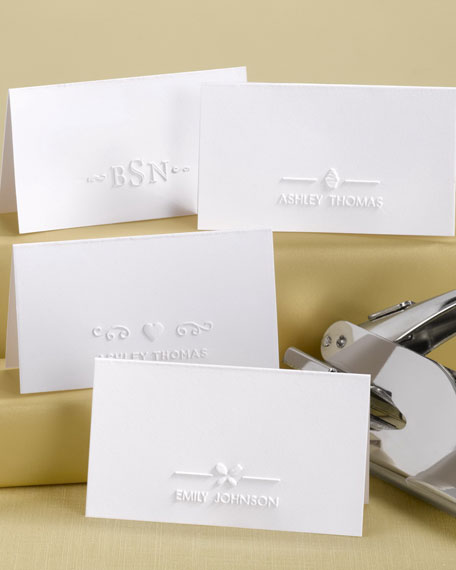 Three-Initial Place Card Embosser