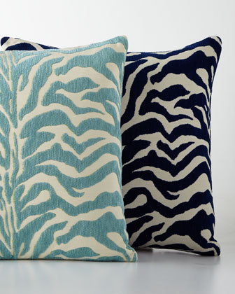 Zebra-Print Outdoor Pillows