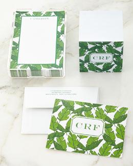 Banana Leaf Folded Notes, Note Sheets, & Memo Cube