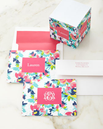 Carrie Floral Folded Notes & Memo Cube
