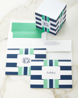 Navy Rugby Folded Notes & Memo Cube