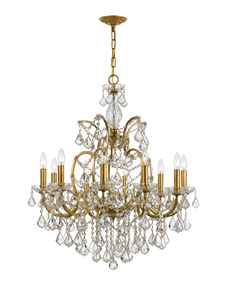 swarovski crystorama filmore 10 light swarovski gold chandelier cord cover. Black Bedroom Furniture Sets. Home Design Ideas