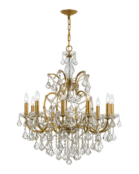 crystorama filmore 10 light swarovski gold chandelier cord cover