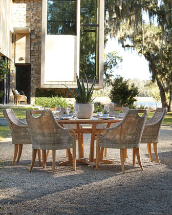 Edgewood Outdoor Dining Furniture with Round Table