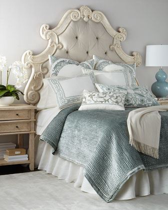 Hughes Tufted Headboard & Nightstand