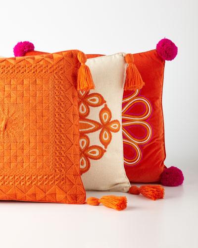 Caribbean Orange Pillows