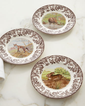 Woodland Rabbit, Fox, Moose, & Deer Dinnerware