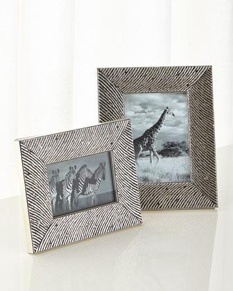 Zebra Fashion Wood Frames