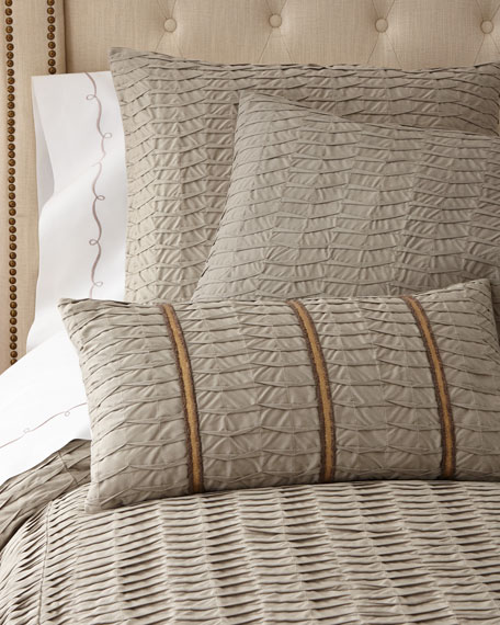 Queen Pleat-Textured Coverlet