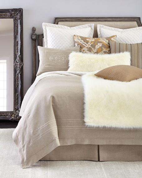 "Pearl Shag Faux-Fur Throw, 58"" x 72"""