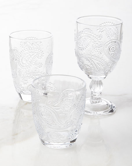 Paisley Goblets, Set of 4