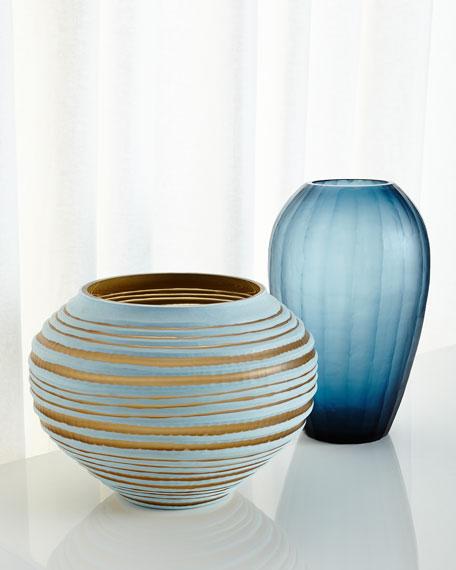 Blue Melon Vase