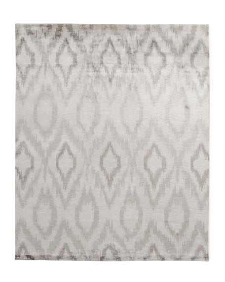 Mesa Hand-Knotted Silver Rug, 10' x 14'