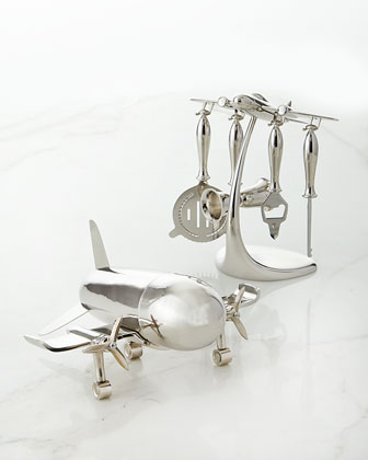Airplane Cocktail Shaker & Bar Tools