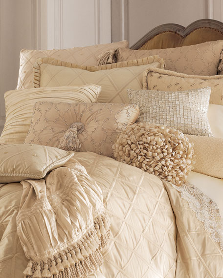 Lattice-Textured King Duvet Cover