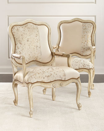 Luxe and Lacy Bergere Chairs