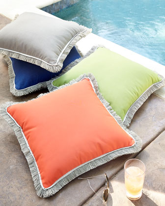 Outdoor Pillows with Fringe