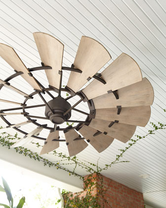 Windmill Bronze Outdoor Ceiling Fan