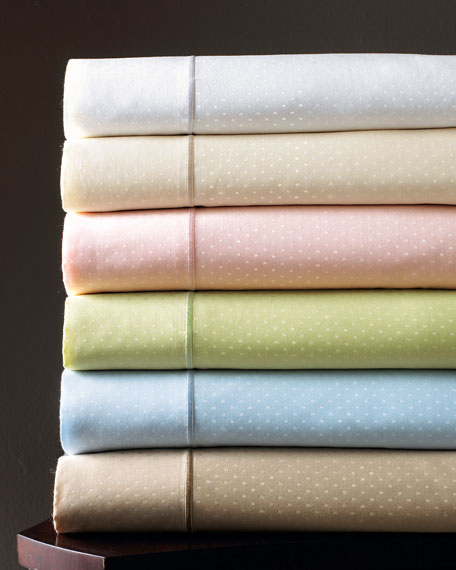 King Marcus Collection 400TC Dot Sheet Set
