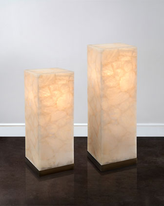 Lighted Calcite Pedestal