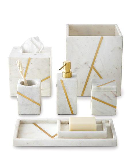 Marble Brass Lotion Dispenser